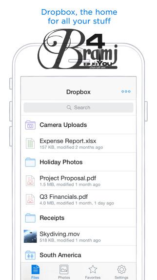 تحديث تطبيق Dropbox الخاص بخدمة التخزين السحابي ل اي فون برامج وتطبيقات اى فون