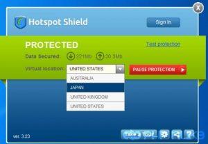 تحميل برنامج تغير الاى بي Hotspot Shield برامج انترنت