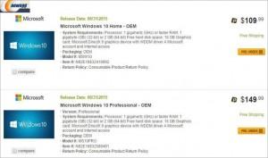 تسريب أسعار نسخ ويندوز 10 التي سوف تطرحها مايكروسوفت للبيع