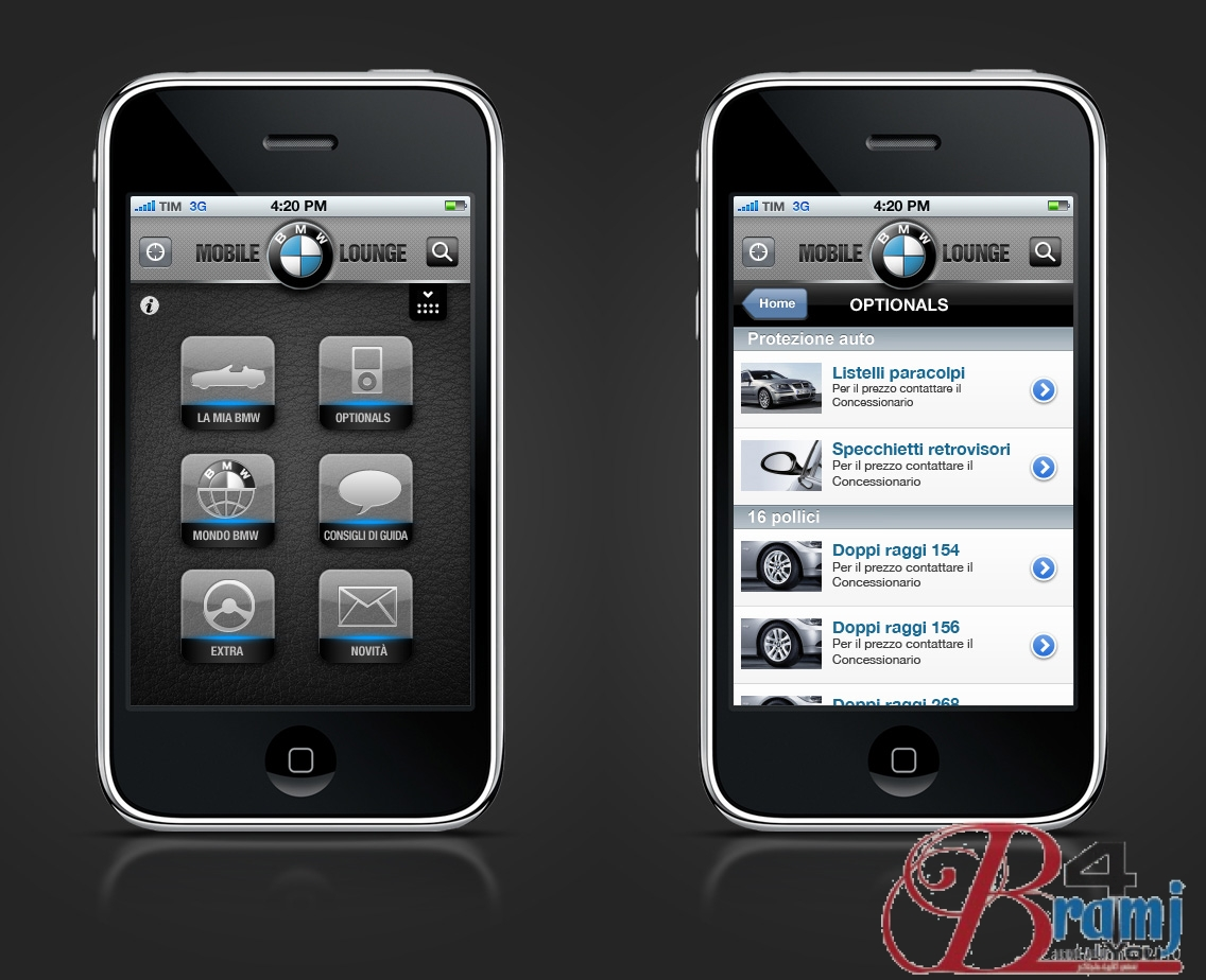 BMW_iPhone_app_Italy_layout_by_camilojones